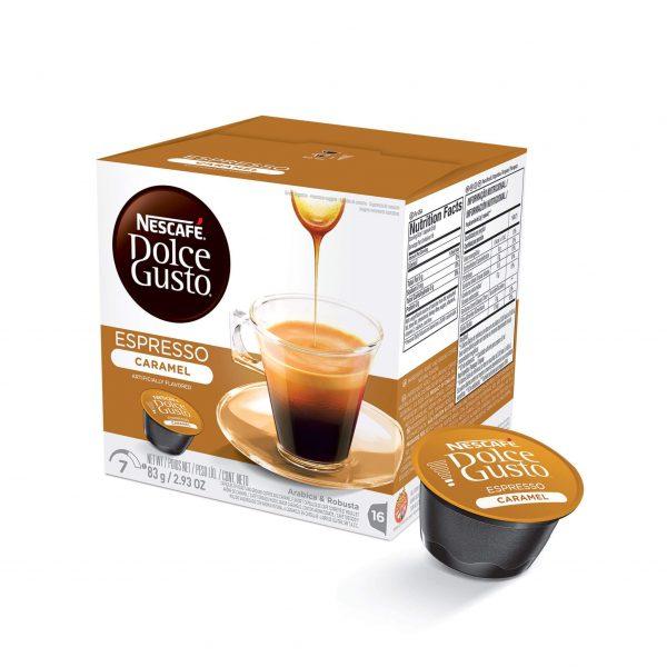Cápsulas de Café Espresso Caramel Dolce Gusto ¡Promo 25% OFF TODOS LOS DÍAS!