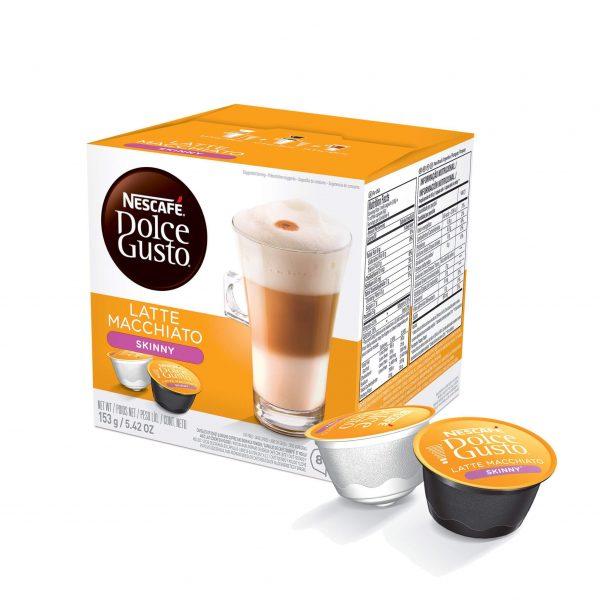 Cápsulas de Café Latte Macchiato Skinny Dolce Gusto ¡Promo 25% OFF TODOS LOS DÍAS!