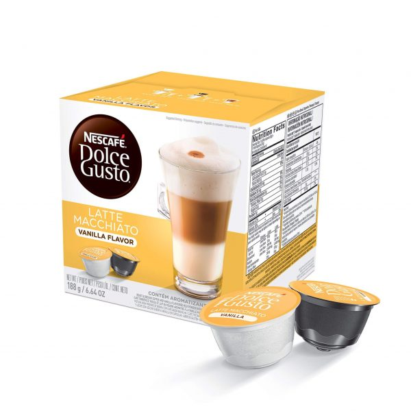 Cápsulas de Café Latte Macchiato Vainilla Dolce Gusto ¡Promo 25% OFF TODOS LOS DÍAS!