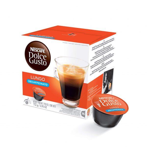 Cápsulas de Café Lungo Decaffeinato Dolce Gusto ¡Promo 25% OFF TODOS LOS DÍAS!