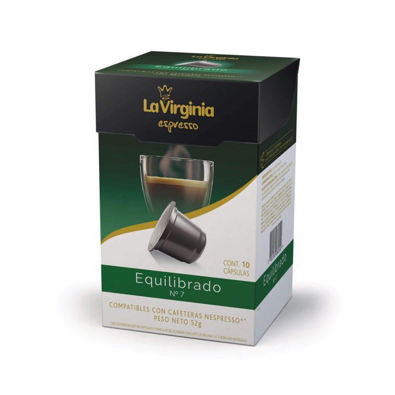 Cápsulas de café variedad Equilibrado La Virginia Promo 10% OFF Nespresso Compatibles