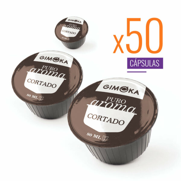 Pack granel Cortado Gimoka compatible con Dolce Gusto