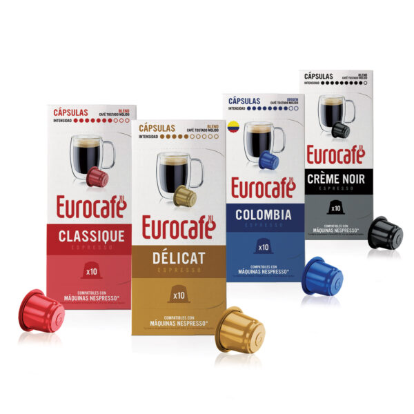 Cápsulas de café compatibles con Nespresso - Eurocafé café de especialidad