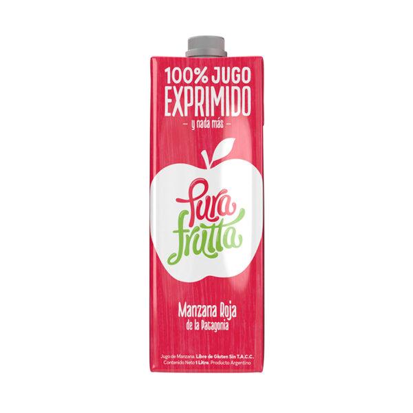 Jugo de manzana roja Pura Frutta 100% exprimido