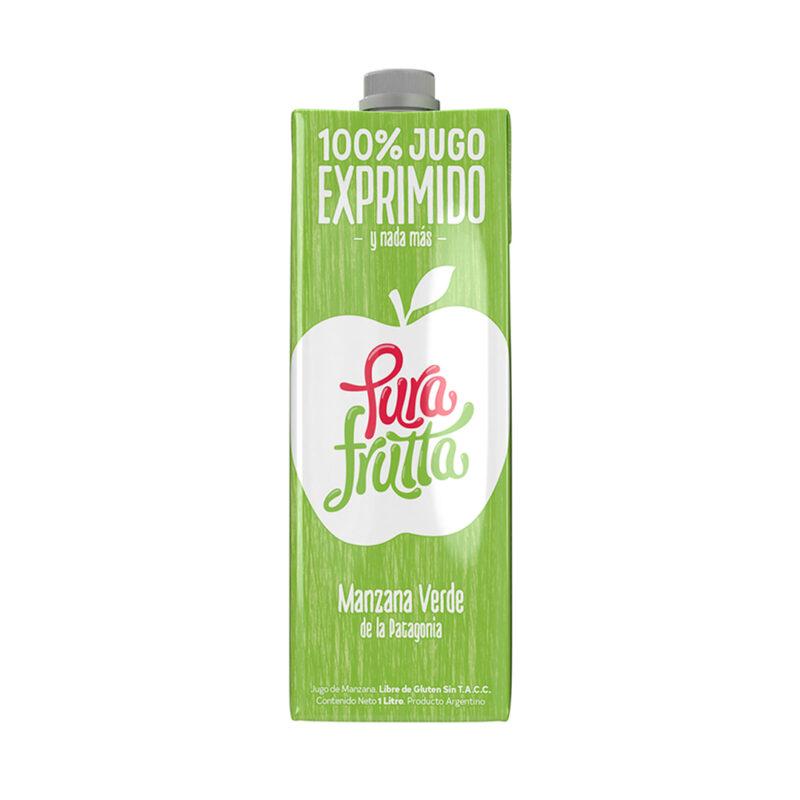 Jugo de manzana verde Pura Frutta 100% exprimido