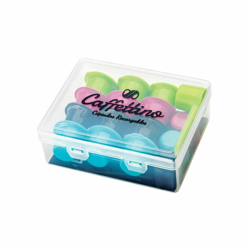 Kit de 12 cápsulas de café recargables Caffettino compatibles con cafeteras Nespresso - Cápsulas 100% ecológicas - Reutilizables