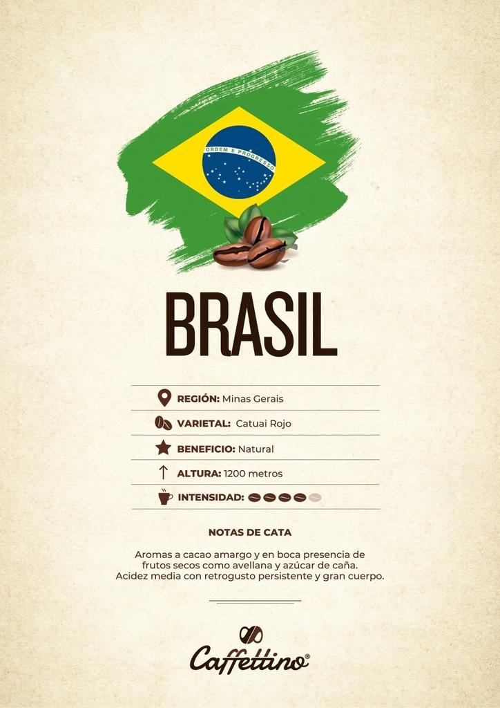 Café tostado molido Brasil - Molienda justa - Cápsulas Dolce Gusto Caffettino