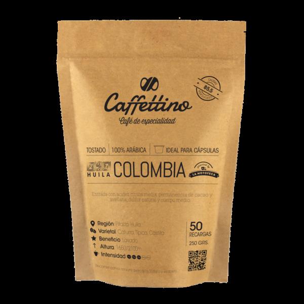 Café tostado molido Colombia - Molienda justa - Cápsulas Nespresso Caffettino