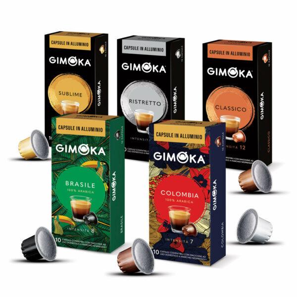 NUEVAS - Cápsulas aluminio de café Gimoka Italia - Cápsulas Nespresso compatibles