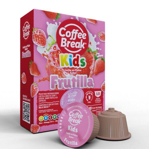 Cápsulas de leche sabor Frutilla Coffee Break - Cápsulas Dolce Gusto compatibles