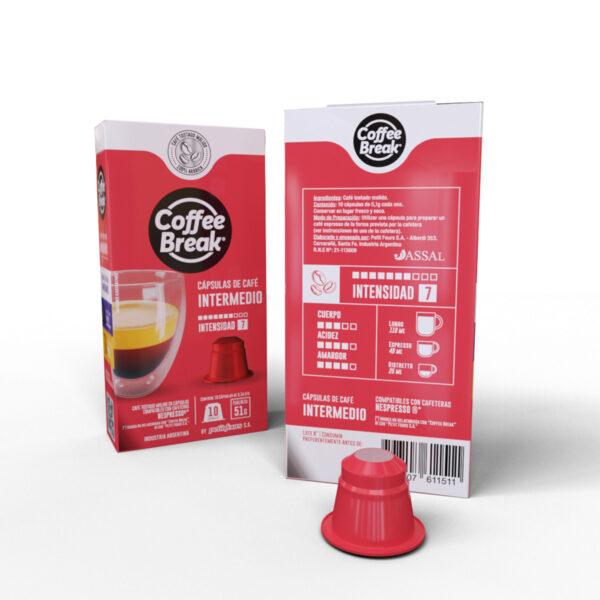 Cápsulas de Café intermedio Coffee Break - Cápsulas Nespresso compatibles
