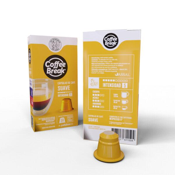 Cápsulas de Café suave Coffee Break - Cápsulas Nespresso compatibles